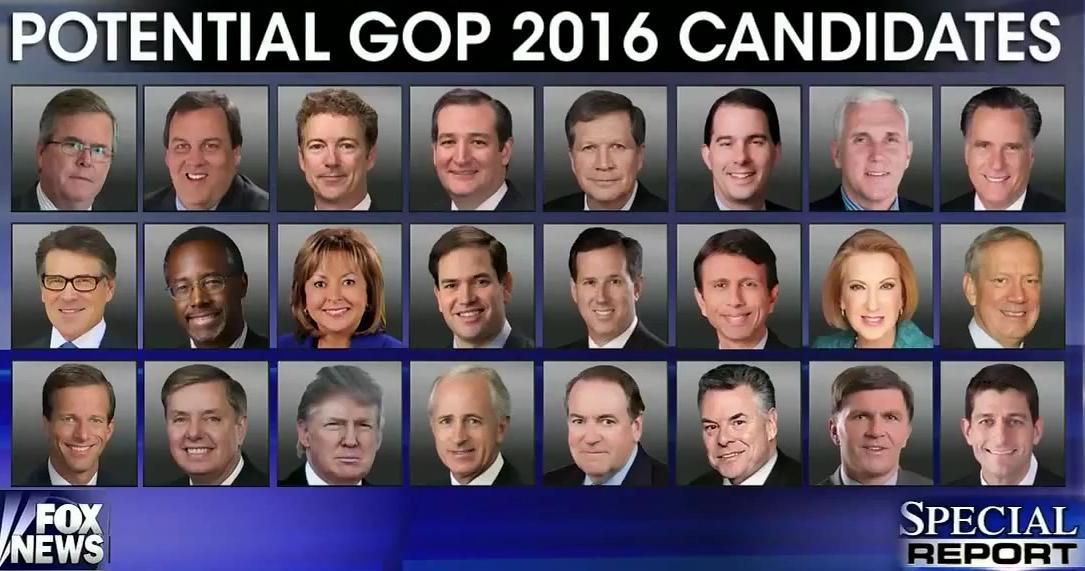 [Headshots of Potential GOP 2016 Candidates]