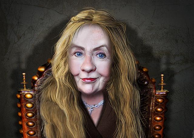 Cersei Lannister Clinton - Caricature