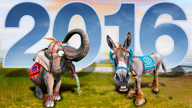 Republican Elephant & Democratic Donkey 2016