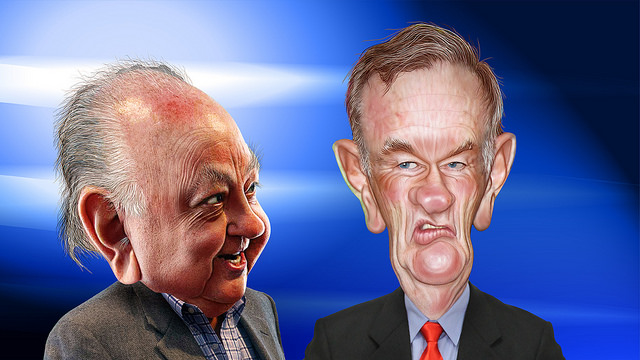 Roger Ailes and Bill O'Reilly - Caricatures