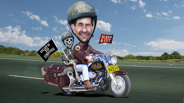 Scott Walker Rides His Koch Rocket