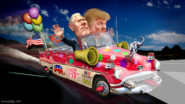Trump-Pence Clown Car 2016
