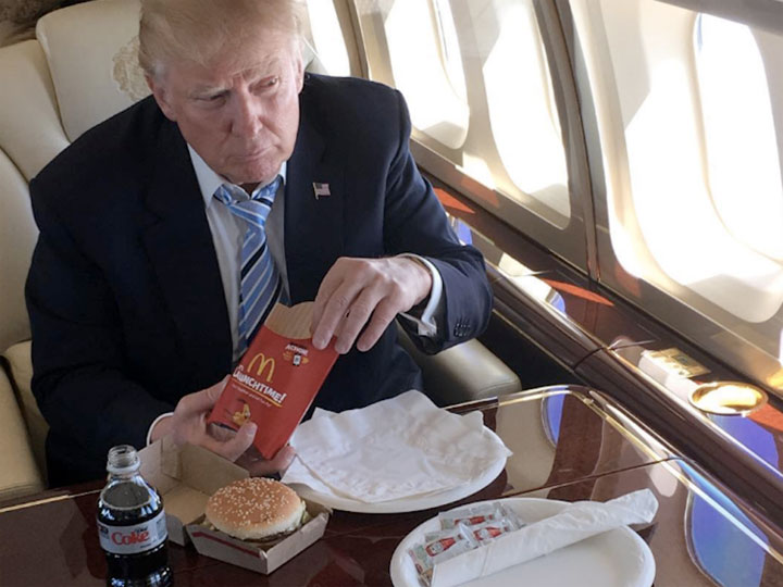 Trump reportedly loves McDonald's because he has a 'longtime fear' of being poisoned