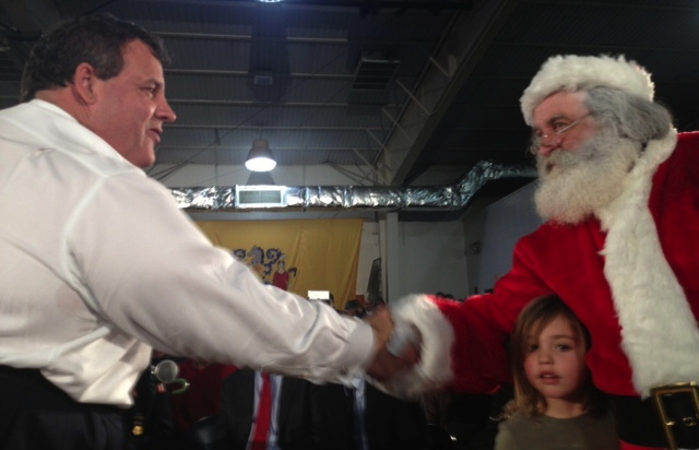 Chris Christie meet and greet with S. Claus