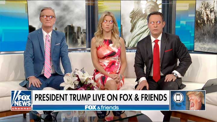 Fox and Friends' recent telephone interview with Our Fakakta President™