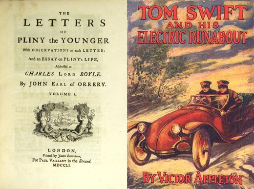Letters of Pliny the Younger - Tom Swift and his Electric Runabout